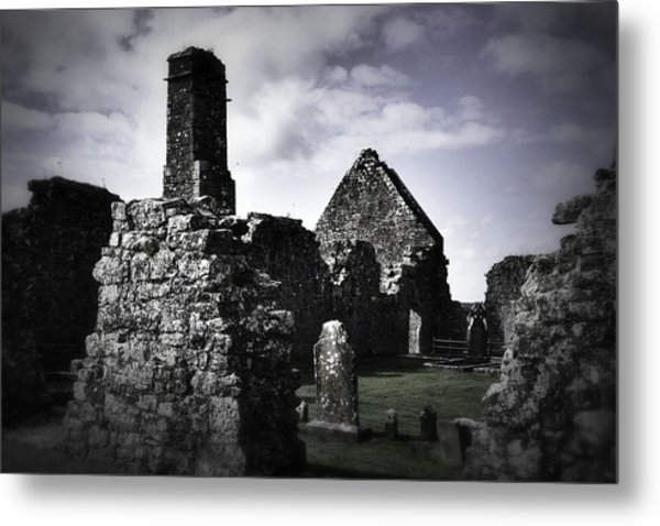 Inside The Walls At Clare Abbey II Metal Print