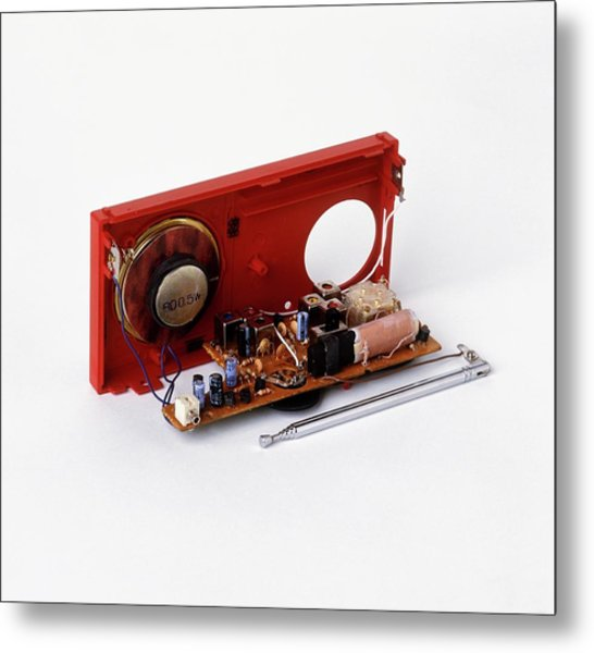 Insides Of A Portable Radio Metal Print