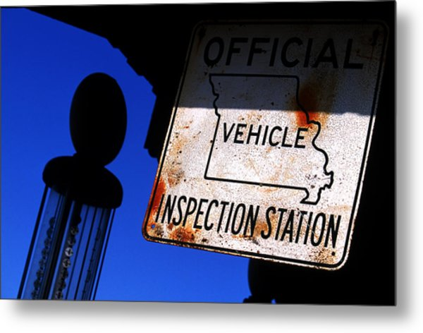 Inspection Station Metal Print