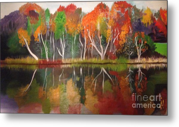 Inspiration Autumn Evening In Work Metal Print