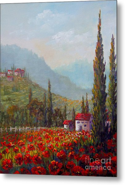Inspired By Tuscany Metal Print