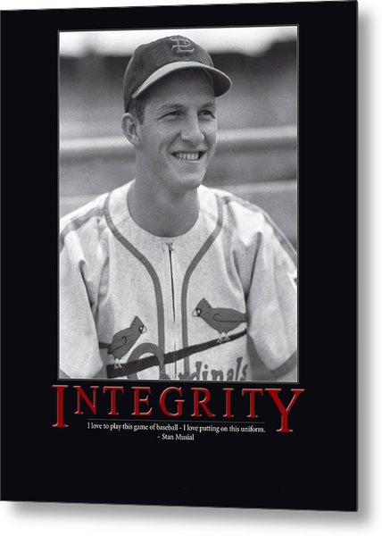 Integrity Stan Musial Metal Print