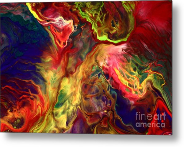 Intense Emotions Contemporary Abstract Metal Print