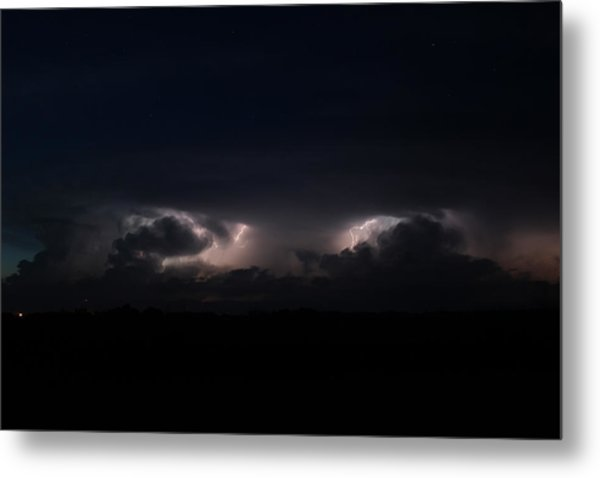 Intense Lightning Metal Print