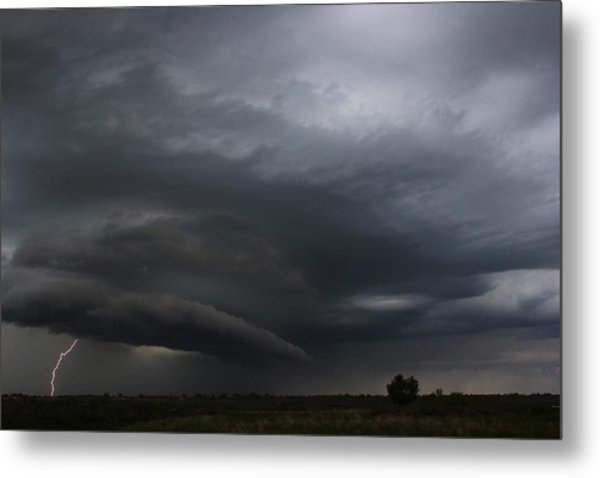 Intense Storm Cell Metal Print