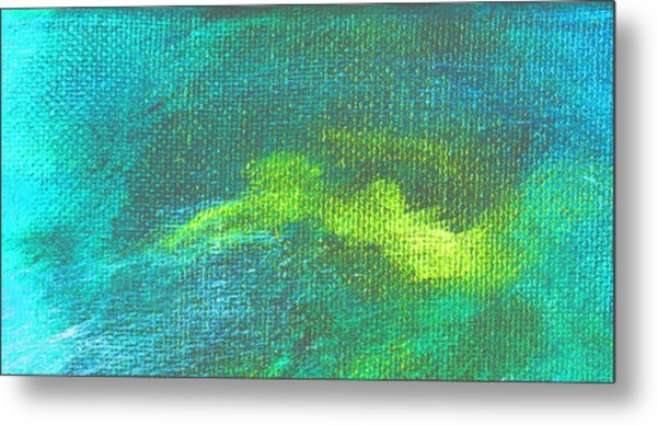 Intensity Aqua Blue Metal Print by L J Smith