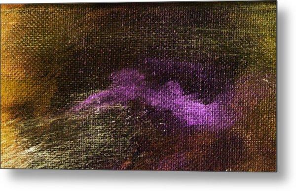Intensity Golden Purple Metal Print by L J Smith
