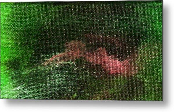 Intensity Green Pink Metal Print by L J Smith