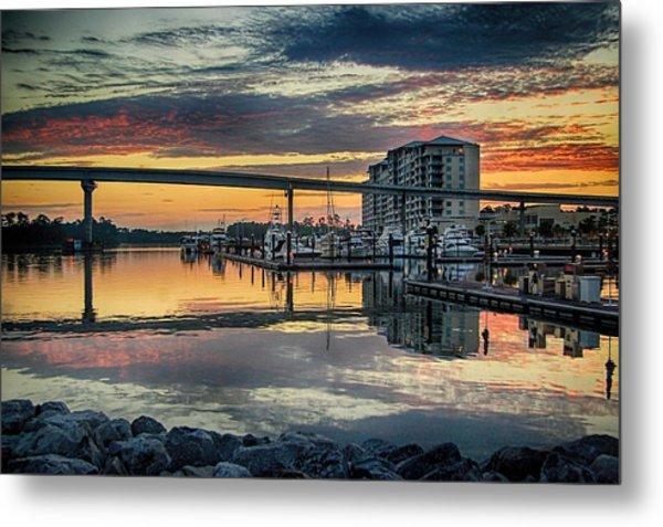 Intercoastal Waterway And The Wharf Metal Print