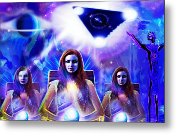Interdimensional Guardians Metal Print