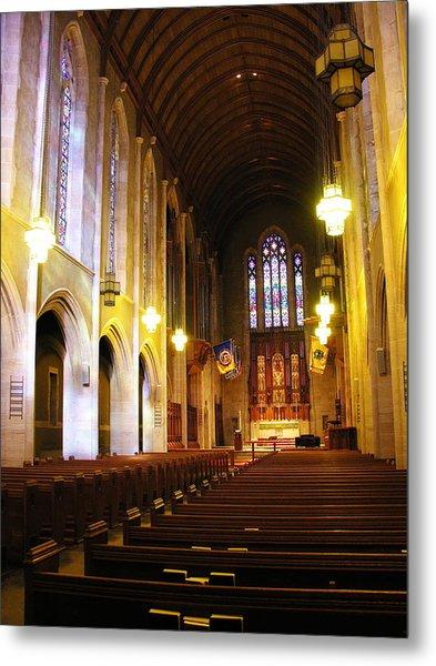 Interior - Egner Memorial Chapel - Muhlenberg College Metal Print by Jacqueline M Lewis