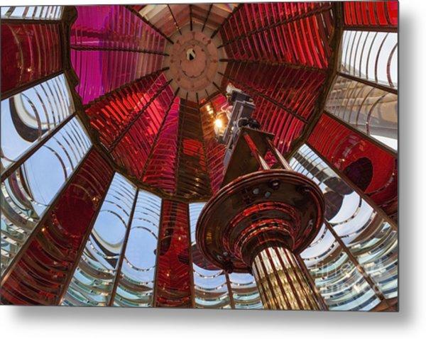 Interior Of Fresnel Lens In Umpqua Lighthouse Metal Print