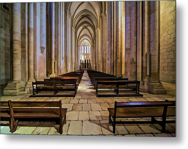 Interior Of The Monastery Da Batalha Metal Print