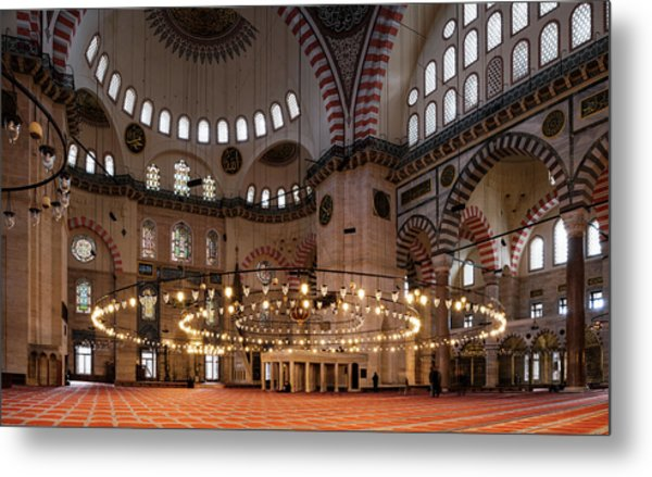 Interior Of The Suleymaniye Mosque Metal Print