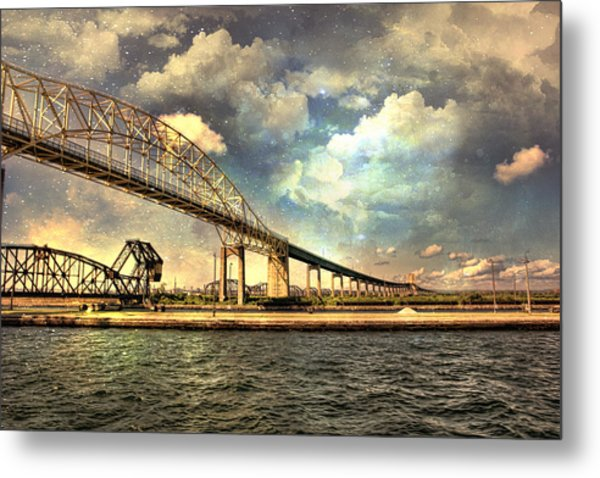 International Bridge Sault Ste Marie Metal Print