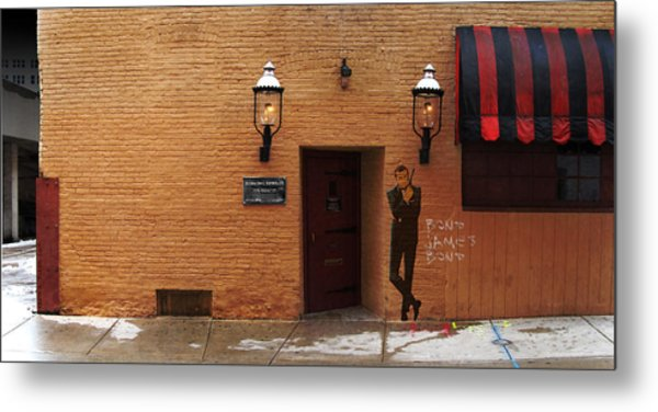 International Exports Ltd Secret Entrance To The Safe House In Milwaukee Metal Print by David Blank