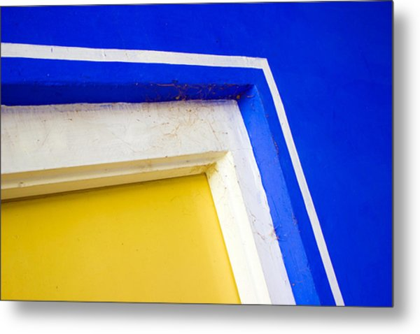 Interplay Of Colors And Geometry Metal Print