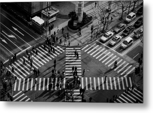 Intersection ( Crossing Alternatives ) Metal Print by C.s. Tjandra