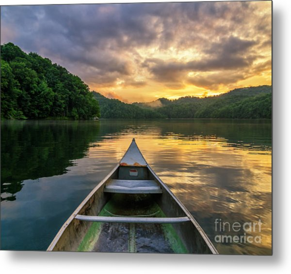 Into The Calm Metal Print