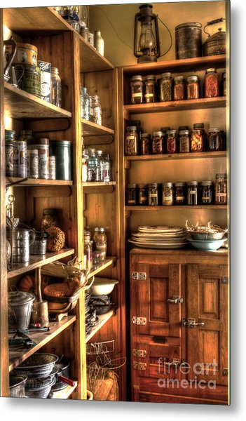 Into The Pantry Metal Print