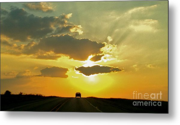 Into The Sunset - No.0580 Metal Print
