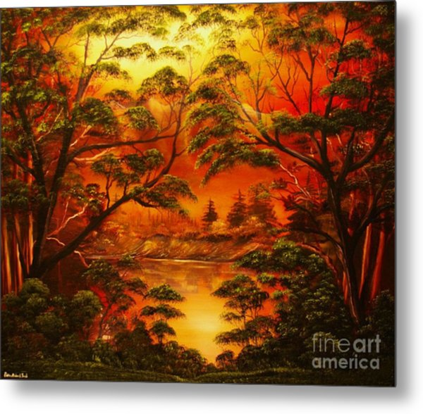 Into The Twilight-original Sold-buy Giclee Print Nr 29 Of Limited Edition Of 40 Prints  Metal Print