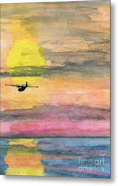 To The Unknown - Pby Catalina On Patrol Metal Print