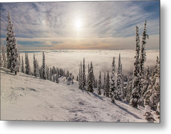 Inversion Sunset Metal Print
