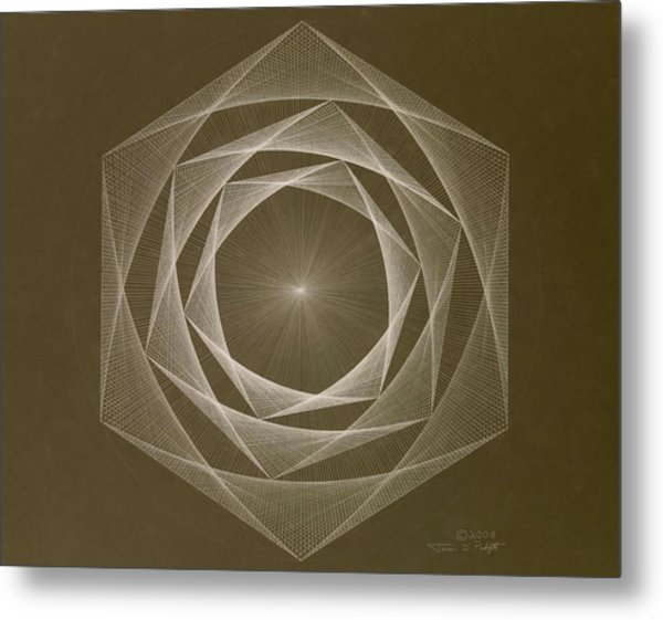 Inverted Energy Spiral Metal Print