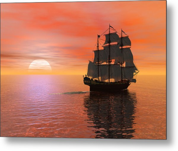 Invisible Breeze Metal Print