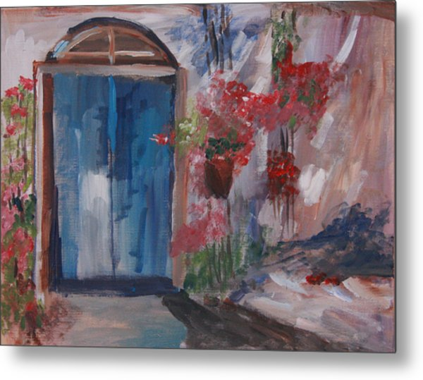 Inviting Doorway Metal Print