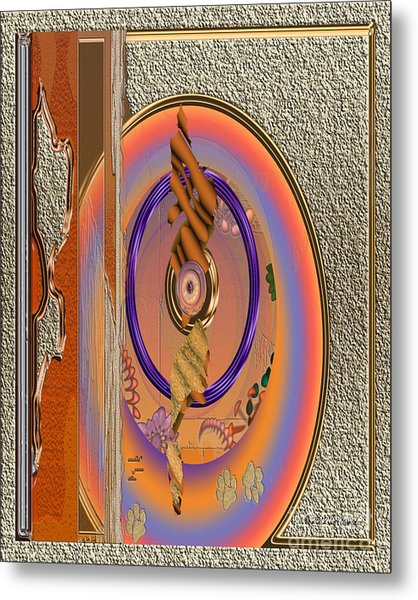 Metal Print featuring the digital art Inw_20a5682sz Washed Puma Stone by Kateri Starczewski