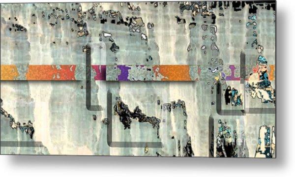 Metal Print featuring the digital art Inw_20a6028detail Ageless Glacial Memories Trekking by Kateri Starczewski