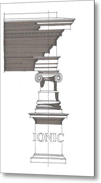 Ionic Order Metal Print