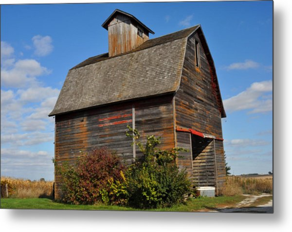Iowa Barn Metal Print by Diane Lent