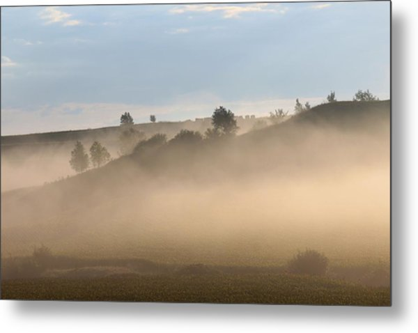 Iowa Morning Metal Print by Angie Phillips