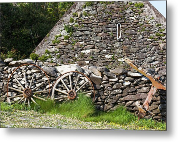 Ireland, County Kerry Cottage Detail Metal Print