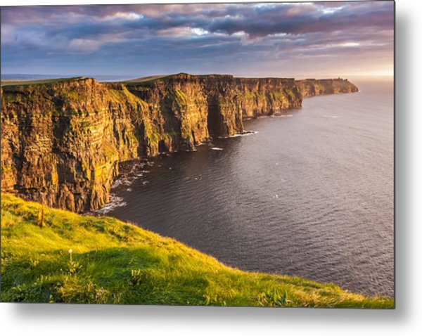 Ireland's Iconic Landmark The Cliffs Of Moher Metal Print