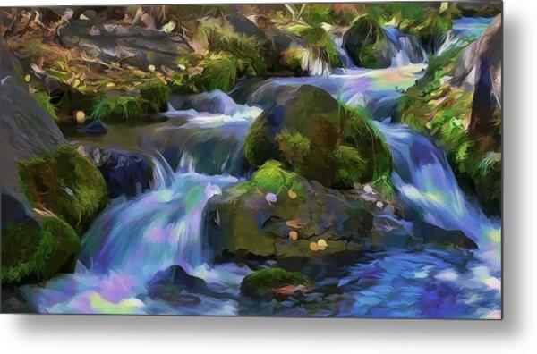 Iridescent Creek By Frank Lee Hawkins Metal Print