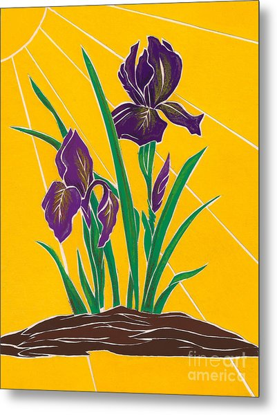Iris 2 - In The Sun Metal Print