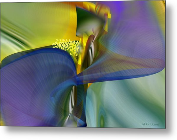 Iris - Abstract Art Metal Print
