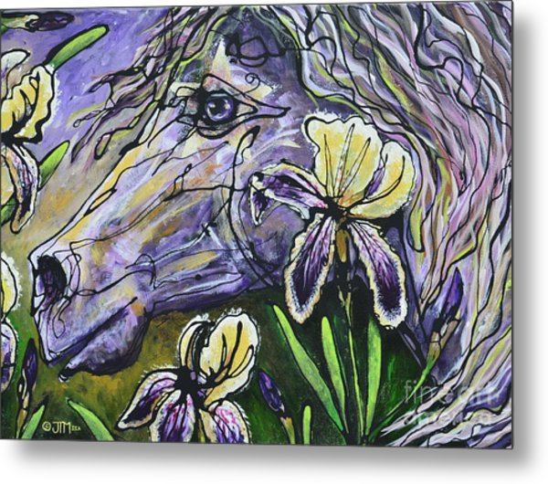 Iris Upon A Star Metal Print