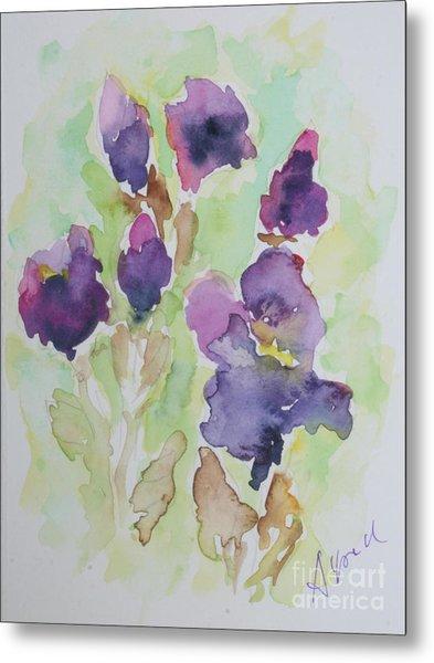 Irises Metal Print by Almo M