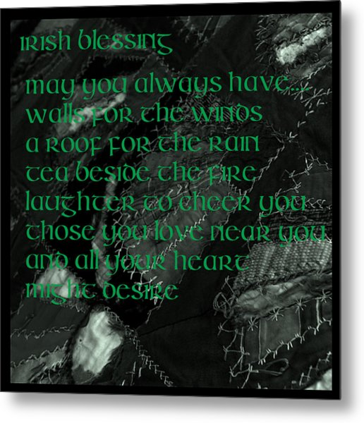 Irish Blessing Stitched In Time Metal Print