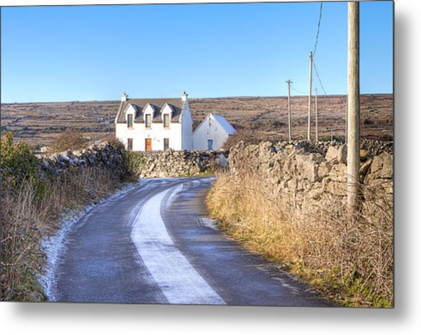 Irish Cottage On Isle Of Inis Mor Metal Print by Mark Tisdale
