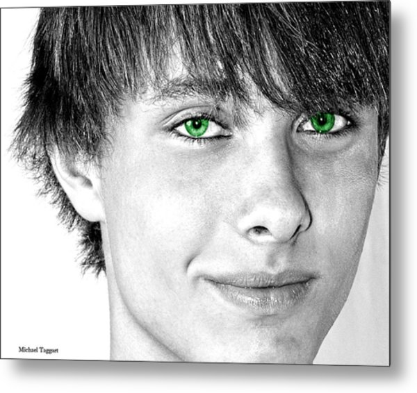 Irish Eyes Metal Print by Michael Taggart