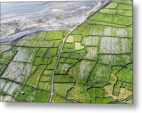Irish Stone Walls Metal Print