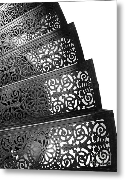 Iron Stairs Metal Print