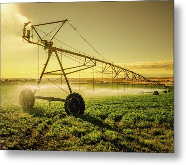 Irrigator Machine At Palouse Metal Print by Chinaface