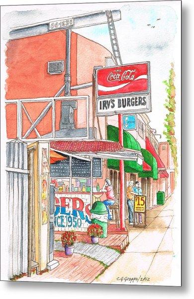 Irv's Burgers In West Hollywood, California Metal Print